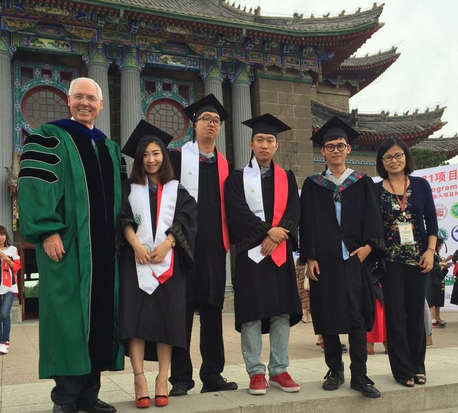 UNT Provost in China